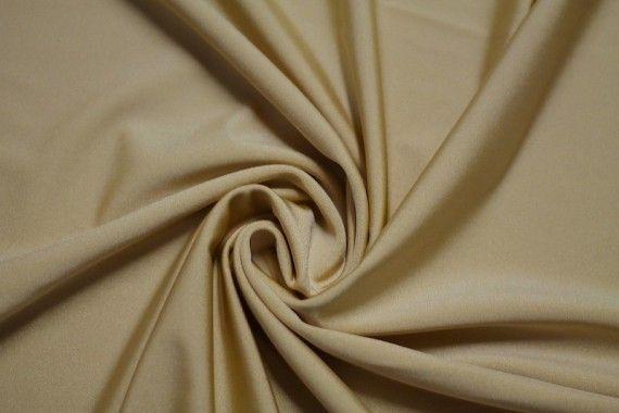 Tissu Lycra Brillant Beige -Au Mètre