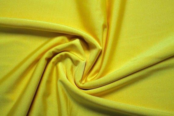 Tissu Lycra Brillant Jaune -Au Mètre