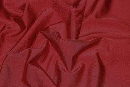 Tissu Lycra Brillant Rouge Carmin -Au Mètre
