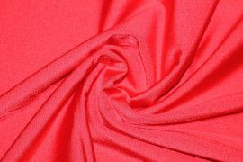 Tissu Lycra Brillant Rouge Vif -Au Mètre