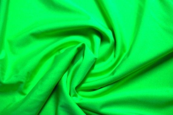 Tissu Lycra Brillant Anis Fluo -Au Mètre