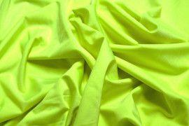Tissu Lycra Brillant Jaune Fluo -Au Mètre