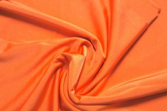 Tissu Lycra Brillant Orange Fluo -Au Mètre