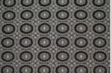 Tissu Jacquard Cercle Noir/Ecru -Au Mètre
