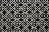 Tissu Jacquard Losange Noir/Ecru -Au Mètre