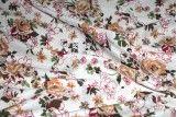Tissu Viscose Imprimée Nature Beige -Au Mètre