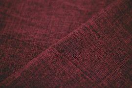 Tissu Burlington Flammé Rouge bordeaux Coupon de 3 mètres