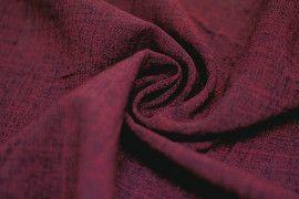 Tissu Burlington infroissable Chine Rouge bordeaux -Au Metre