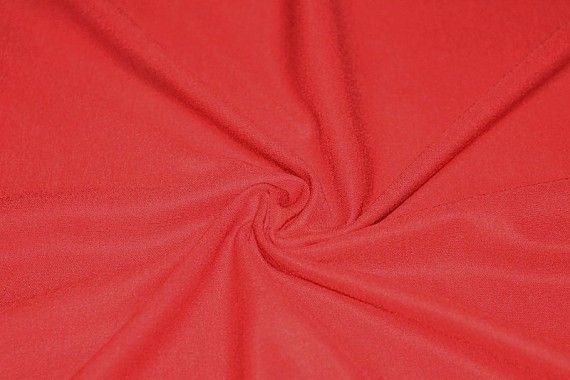 Tissu Maille Milano Léger Uni Rouge -Au Mètre