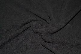 Tissu Crêpe Marocain Noir -Au Mètre