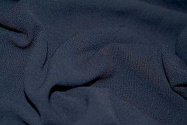 Tissu Crêpe Marocain Marine -Au Mètre