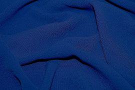 Tissu Crêpe Marocain Bleu Roi -Au Mètre