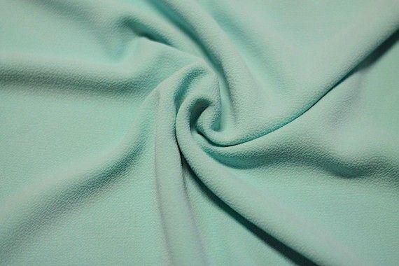 Tissu Crêpe Marocain Vert d'Eau -Au Mètre