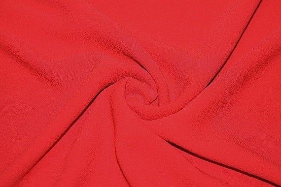 Tissu Crêpe Marocain Rouge -Au Mètre