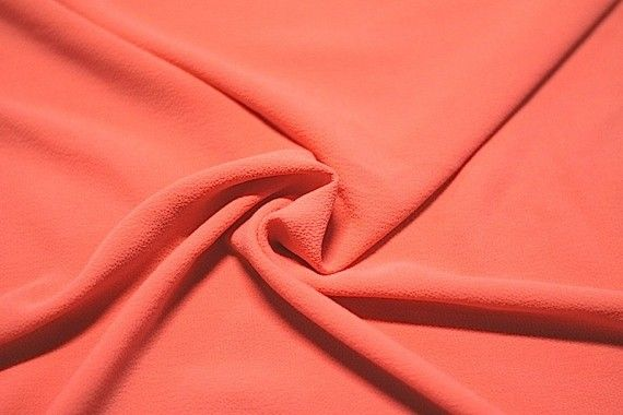 Tissu Crêpe Marocain Corail -Au Mètre
