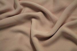 Tissu Crêpe Mousseline Twist Nude -Au Mètre