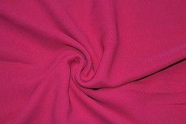 Tissu Crêpe Mousseline Twist Fuchsia  -Au Mètre