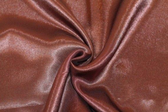 Tissu Doublure Satin Marron Petite Largeur -Au Mètre