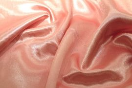 Tissu Doublure Satin Rose Clair Petite Largeur Coupon de 3 mètres