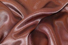 Tissu Doublure Satin Marron Petite Largeur Coupon de 3 mètres