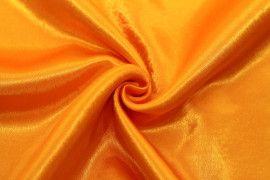 Tissu Doublure Satin Orange Petite Largeur Coupon de 3 mètres