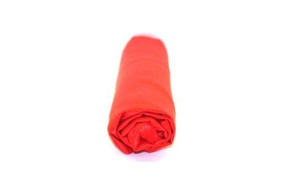 Tissu Doublure Satin Rouge Petite Largeur Coupon de 3 mètres