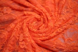 Tissu Dentelle Orange fluo Coupon de 3 Metres