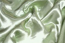 Tissu Doublure Satin Pistache Clair Petite Largeur -Au Mètre