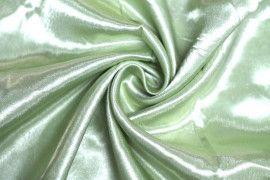 Tissu Doublure Satin Pistache Clair Petite Largeur Coupon de 3 mètres