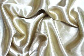 Tissu Doublure Satin Caramel Petite Largeur Coupon de 3 mètres