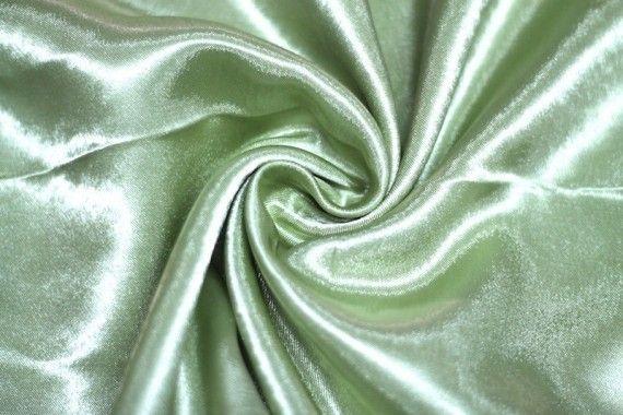 Tissu Doublure Satin Pistache Foncé Petite Largeur -Au Mètre