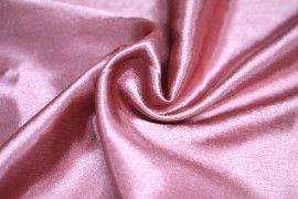 Tissu Doublure Satin Vieux Rose Clair Petite Largeur -Au Mètre