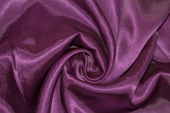 Tissu Doublure Satin Prune Petite Largeur -Au Mètre
