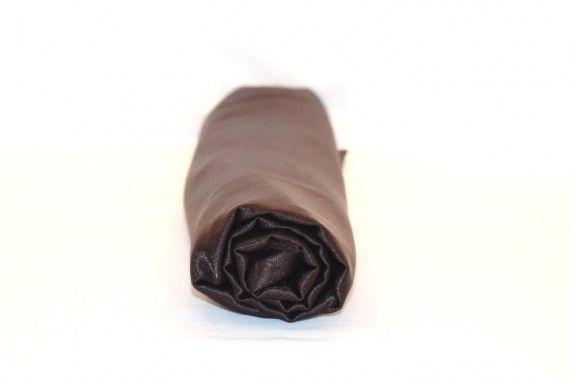 Tissu Doublure Satin Marron Foncé Petite Largeur Coupon de 3 mètres