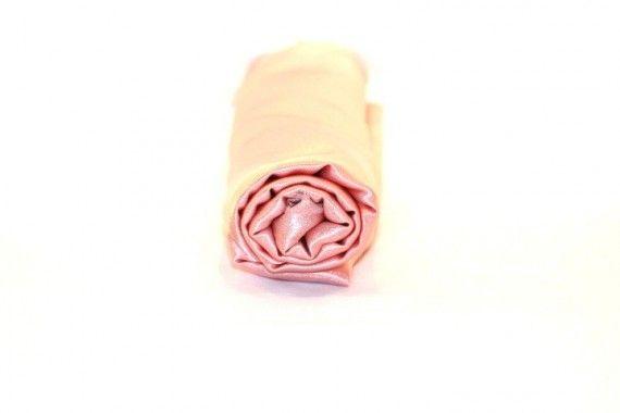 Tissu Doublure Satin Saumon Clair Petite Largeur Coupon de 3 mètres