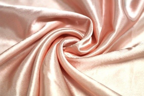 Tissu Doublure Satin Saumon Clair Petite Largeur -Au Mètre