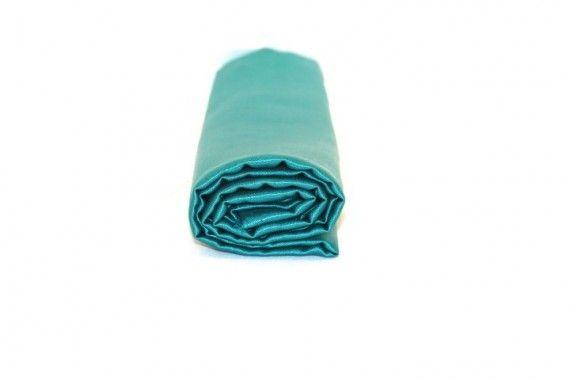 Tissu Doublure Satin Vert Turquoise Petite Largeur Coupon de 3 mètres