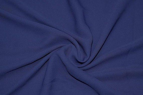 Tissu Crêpe Mousseline Twist Bleu Roi -Au Mètre