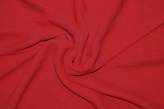 Tissu Crêpe Mousseline Twist Rouge -Au Mètre