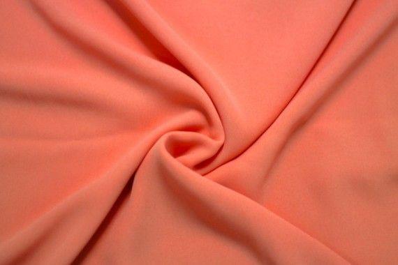 Tissu Crêpe Mousseline Twist Corail Clair -Au Mètre