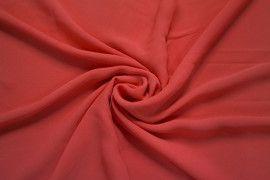 Tissu Crêpe Mousseline Twist Corail -Coupon de 3 Mètres