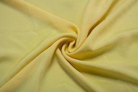 Tissu Crêpe Mousseline Twist Jaune -Coupon de 3 Mètres