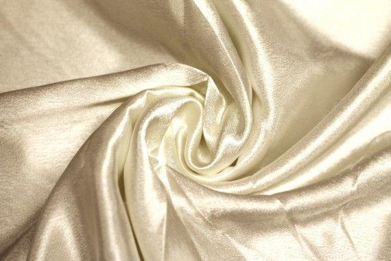 Tissu Doublure Satin Beige Petite Largeur -Au Mètre