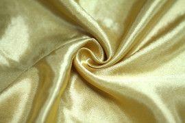 Tissu Doublure Satin Or Foncé Petite Largeur Coupon de 3 mètres