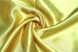Tissu Doublure Satin Or Vif Petite Largeur Coupon de 3 mètres