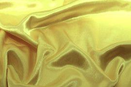 Tissu Doublure Satin Jaune Paille Petite Largeur Coupon de 3 mètres