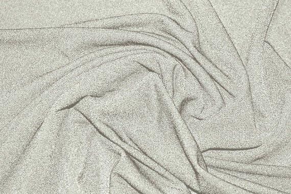 Tissu Crêpe Crézia Maille Ecru -Au mètre
