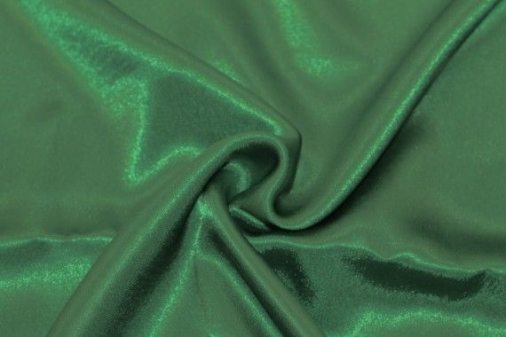 Tissu Doublure Satin Vert Foncé Petite Largeur -Au Mètre