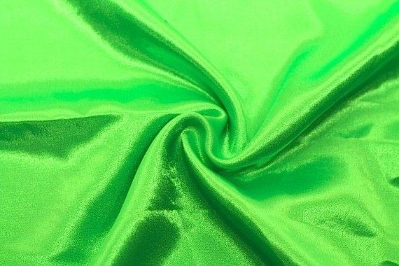 Tissu Doublure Satin Vert Anis Fluo Petite Largeur -Au Mètre