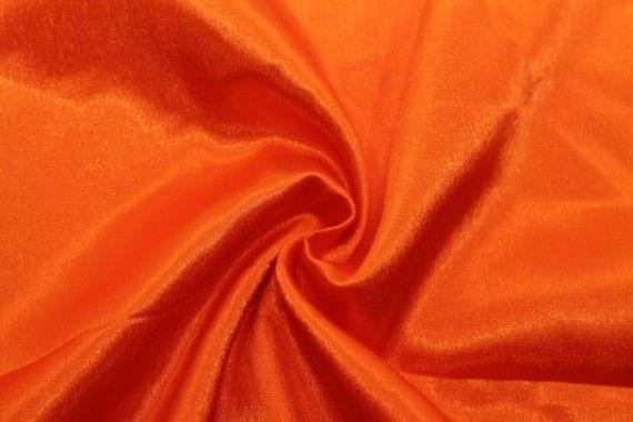 Tissu Doublure Satin Orange Vif Petite Largeur -Au Mètre